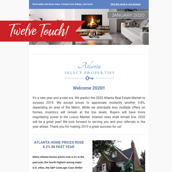 12 touch email newsletter subscription