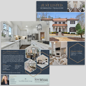 custom design real estate flyer